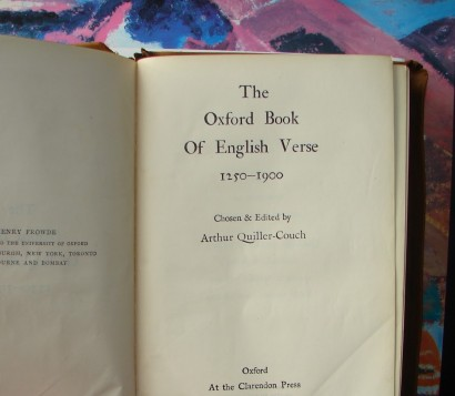 The Oxford Book of English Verse 1912
